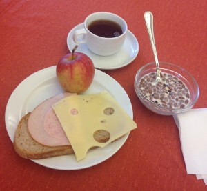 ビルクレホーフでの朝食