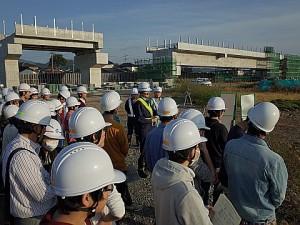 九州新幹線の建設現場見学の様子