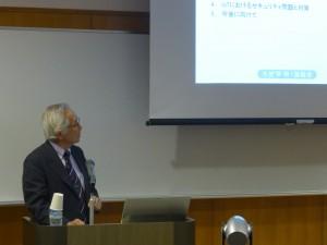 田中学長による講演の様子