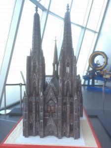 チョコでできたケルン大聖堂(チョコレート博物館)