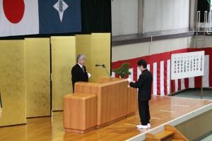 入学生宣誓(準学士課程)