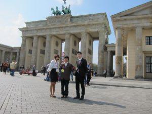 フランデンブルク門前にて