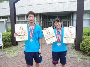 左:浅沼知希 君、右:梅原奈々さん