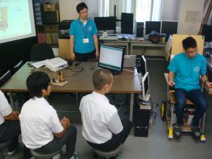 ロボットについての模擬実験