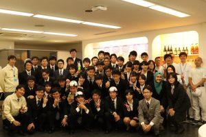 サントリー酒類大阪工場 高専OBと一緒に