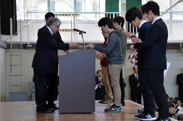 優秀学生賞表彰の写真