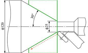 円筒形状の絞りスピニング加工